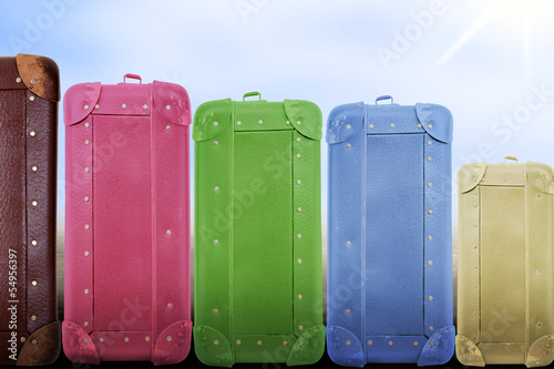 Several suitcases in the rank and file