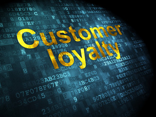 Marketing concept: Customer Loyalty on digital background