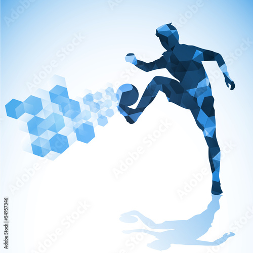 soccer abstract blue