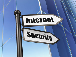 Safety concept: Internet Security on Building background