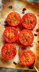 Oven grilled tomatoes