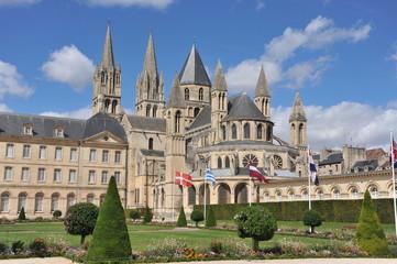 Chevet et les flèches 5, Abbaye des Hommes, Caen