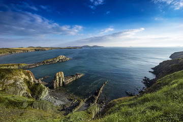rocky coastline and sea - England