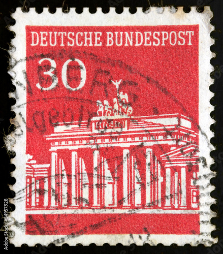 German stamp, Briefmarke Deutsche Bundespost Brandenburger Tor 3
