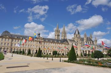 Esplanade jean-Marie Louvel et l'Abbaye aux Hommes, Caen