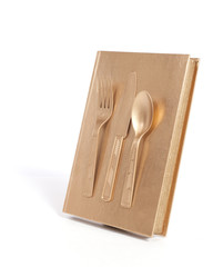 Gold Book and Utensils