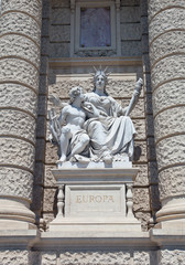 Statue of Europe. Natural History Museum in Vienna