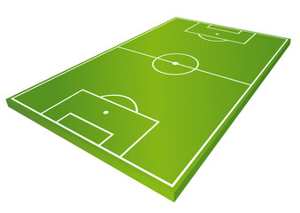 Fussballfeld WM EM