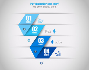 Infographics background to display your data