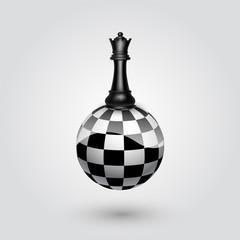 Chess black queen