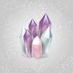 Vector illustration of crystals