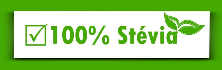 Etiquette : 100% Stévia