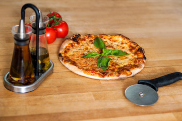 Pizza is ready, please help yourself.