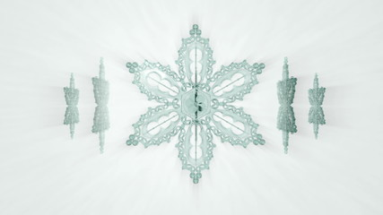 Glass Snowflakes rotate (Seamless loop)