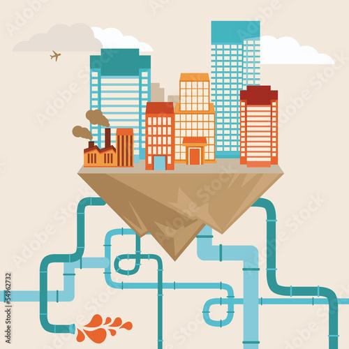 Vector city concept