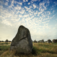 big megaliths - menhirs in Carnac France