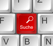 Tastatur Suche Lupe rot