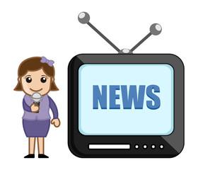 TV Reporter - Career Choice - Business Cartoons