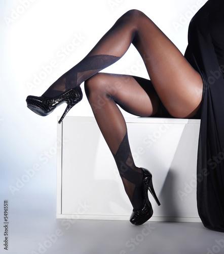 Фото ножки чулки