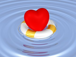Herz in Seenot