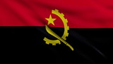 Flag of Angola looping