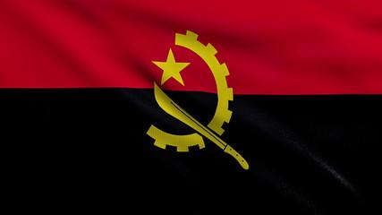 Flag of Angola looping
