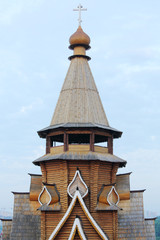 Wooden tower in entertainment center Kremlin