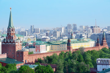 Troitskaya Tower, temples and buildings of Kremlin