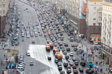 Traffic jam on Tverskaya st.