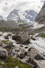 Torrent devant le sommet de la Grande Casse