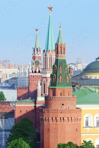 Spasskaya Tower, Nikolskaya Tower, Corner Arsenal Tower