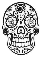 Mexican Sugar Skull, Totenkopf, vector