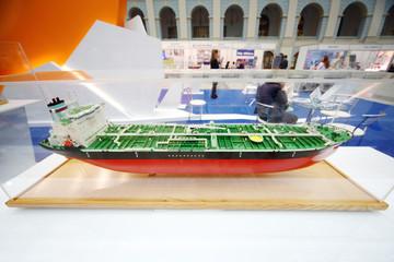 Model of fuel tanker