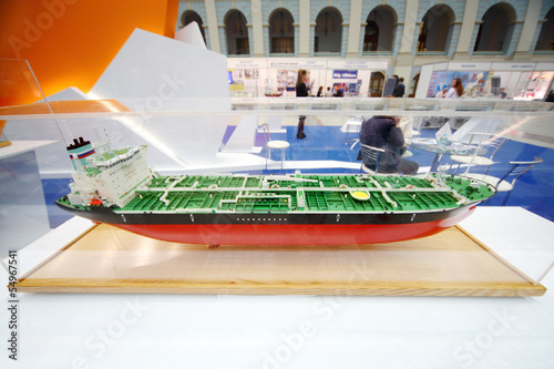 Model of fuel tanker