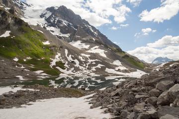 Reflets dans le lac au pied de la Grande Casse