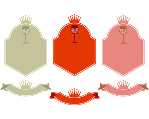 Etichette tre vini