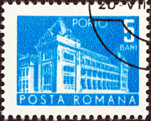 Central Post Office building (Romania 1967)