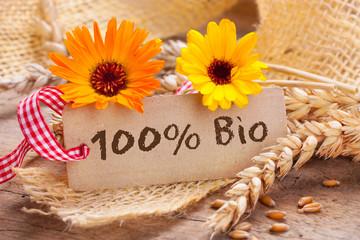 100 % Bio  -  Getreide, Agrarprodukte