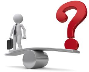 business Fragezeichen