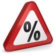 Rabatt Zinsen Warnschild