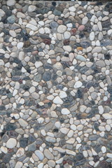 Kieselsteine im Hochformat