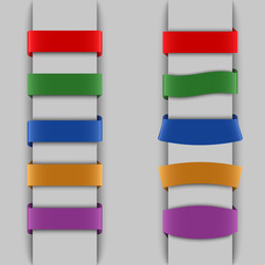Colored vertical bookmarks background