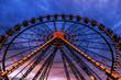 ferris wheel illuminated
