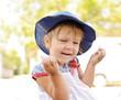 laughing toddler girl