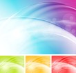 Colourful elegant waves design. Vector template eps 10