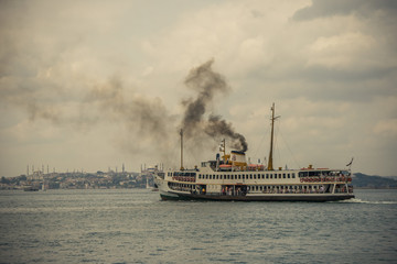 Ferry at the Bosphorus of Kadıkoy, Istanbul
