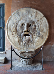 The Mouth of Truth. Church of Santa Maria in Cosmedin in Rome.