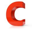 3d red letter - C