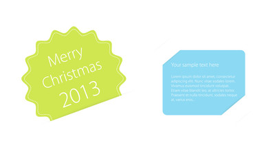 Merry Christmas 2013 invitation card