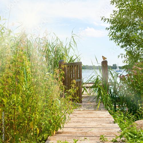 Fototapeta Weg zum See